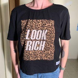 """LOOK RICH"" organic cotton crop top"